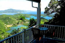 deck and view from st john usvi villa